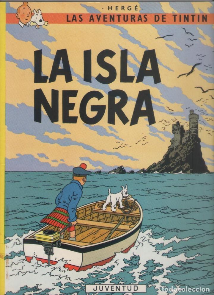 LAS AVENTURAS DE TINTIN-E.D. JUVENTUD-AÑO 1998-COLOR-CARTON-LA ISLA NEGRA (Tebeos y Comics - Juventud - Tintín)