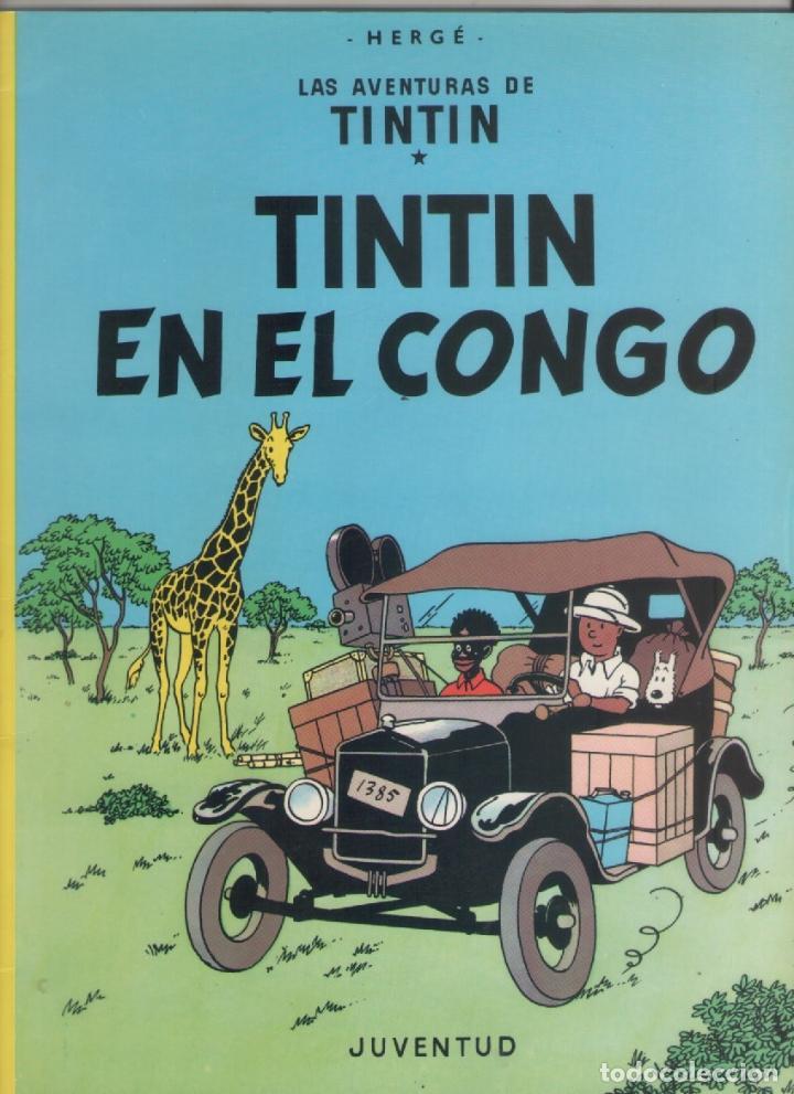 LAS AVENTURAS DE TINTIN-E.D. JUVENTUD-AÑO 1998-COLOR-CARTON-TINTIN EN EL CONGO (Tebeos y Comics - Juventud - Tintín)
