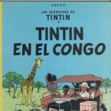 Cómics: LAS AVENTURAS DE TINTIN-E.D. JUVENTUD-AÑO 1998-COLOR-CARTON-TINTIN EN EL CONGO. Lote 194875215