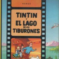 Cómics: LAS AVENTURAS DE TINTIN-E.D. JUVENTUD-AÑO 1998-COLOR-CARTON-TINTIN Y EL LAGO DE LOS TIBURONES. Lote 194875495