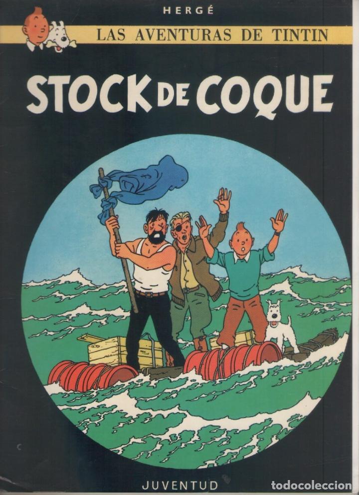 LAS AVENTURAS DE TINTIN-E.D. JUVENTUD-AÑO 1998-COLOR-CARTON-STOCK DE COQUE (Tebeos y Comics - Juventud - Tintín)