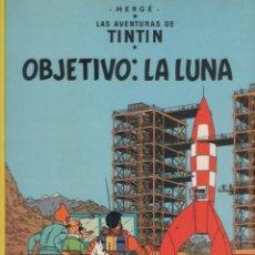 Cómics: LAS AVENTURAS DE TINTIN-E.D. JUVENTUD-AÑO 1998-COLOR-CARTON-OBJETIVO LA LUNA. Lote 194875778