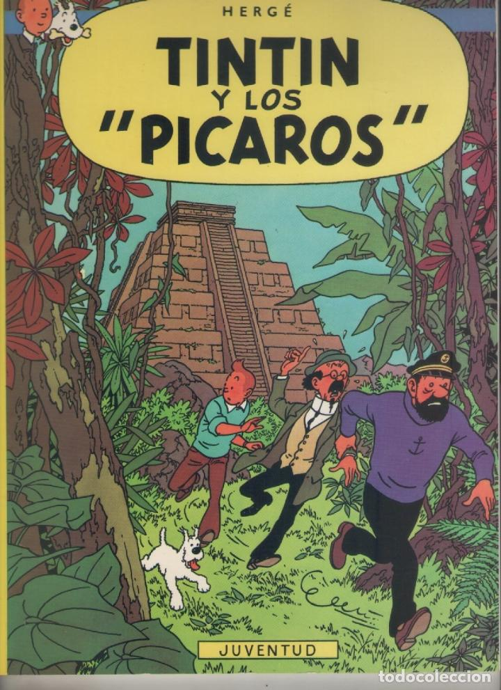 LAS AVENTURAS DE TINTIN-E.D. JUVENTUD-AÑO 1998-COLOR-CARTON-TINTIN Y LOS PICAROS (Tebeos y Comics - Juventud - Tintín)
