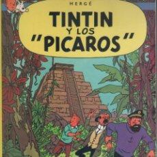 Cómics: LAS AVENTURAS DE TINTIN-E.D. JUVENTUD-AÑO 1998-COLOR-CARTON-TINTIN Y LOS PICAROS. Lote 194875985
