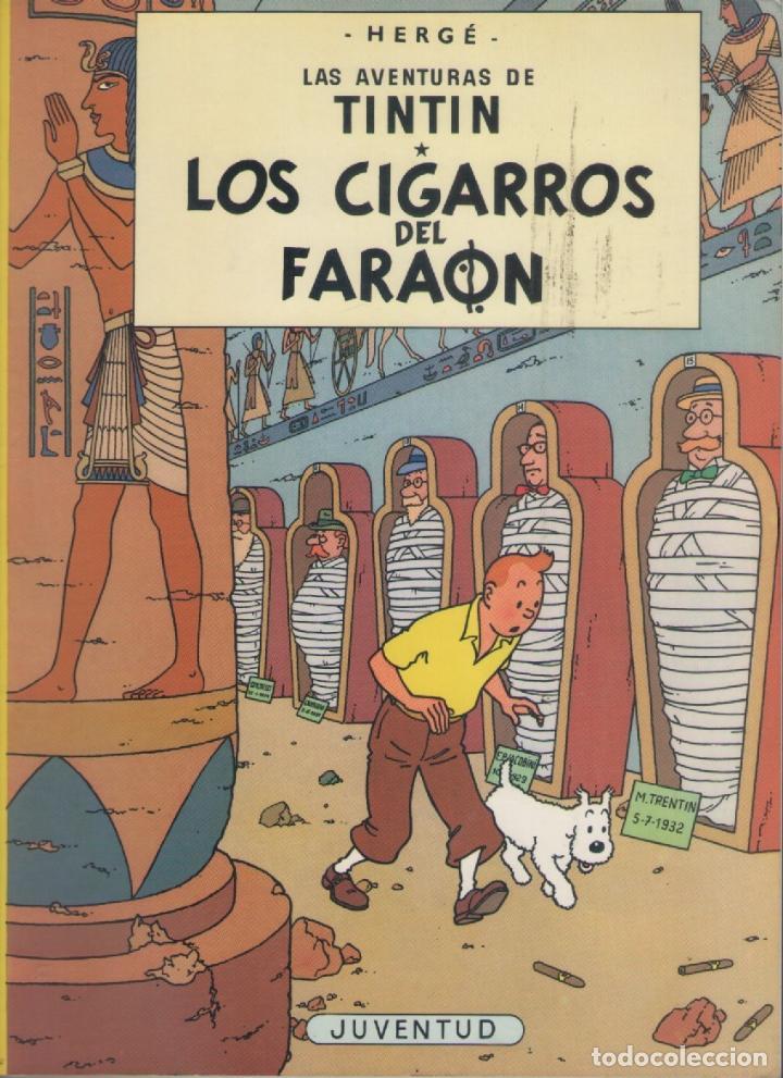 LAS AVENTURAS DE TINTIN-E.D. JUVENTUD-AÑO 1998-COLOR-CARTON-LOS CIGARROS DEL FARAON (Tebeos y Comics - Juventud - Tintín)