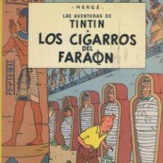 Cómics: LAS AVENTURAS DE TINTIN-E.D. JUVENTUD-AÑO 1998-COLOR-CARTON-LOS CIGARROS DEL FARAON. Lote 194876068