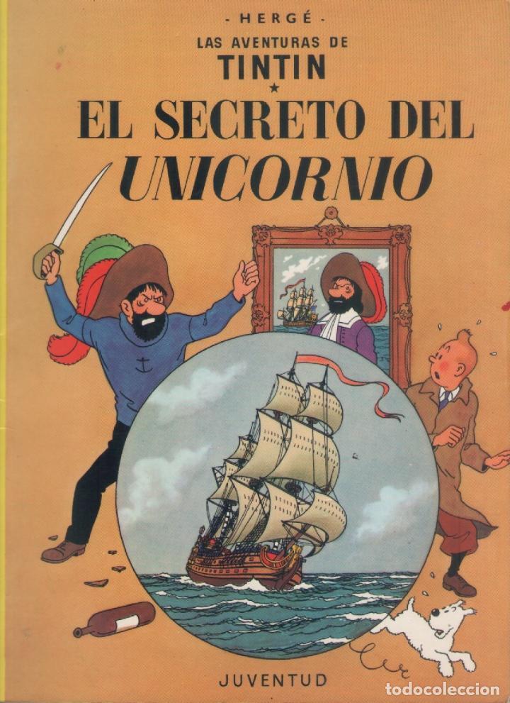 LAS AVENTURAS DE TINTIN-E.D. JUVENTUD-AÑO 1998-COLOR-CARTON-EL SECRETO DEL UNICORNIO (Tebeos y Comics - Juventud - Tintín)
