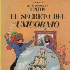 Cómics: LAS AVENTURAS DE TINTIN-E.D. JUVENTUD-AÑO 1998-COLOR-CARTON-EL SECRETO DEL UNICORNIO. Lote 194876167