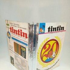 Cómics: TINTIN. LE JOURNAL DES JEUNES DE 7 A 77 ANS. 20 ÉME ANNIVERSAIRE. Nº78. 1042-1054. 13 NÚMEROS.. Lote 194922912