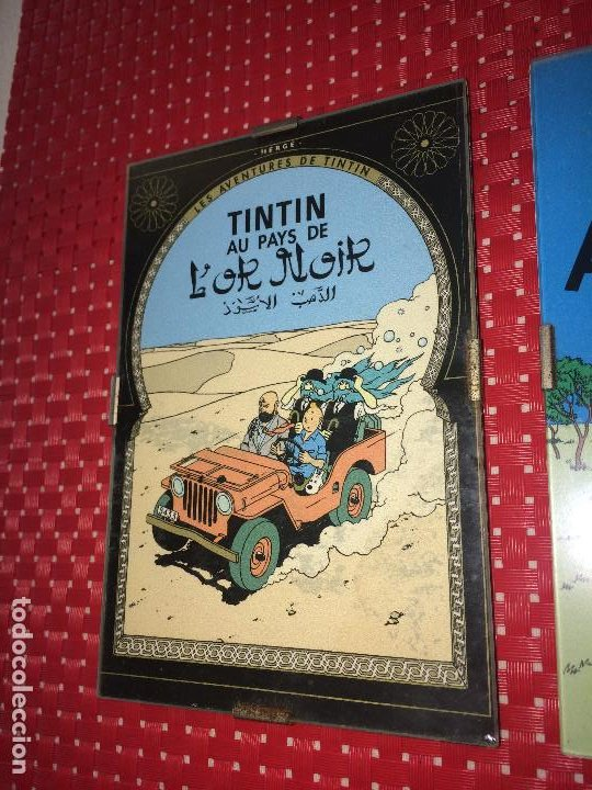 Cómics: LOTE 3 CUADROS TINTIN - MADERA - CRISTAL Y CAR´STULS COMIC EN FRANCÉS - MIDEN 15 X 10 CMS. - Foto 4 - 195008236