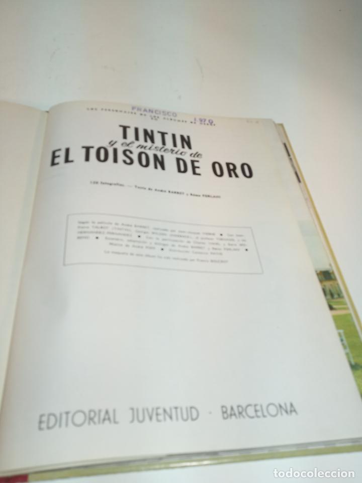 Cómics: Las aventuras de Tintin.Tintin y el misterio del Toyson de oro. Hergé. Primera edición. Juventud. - Foto 2 - 195044108
