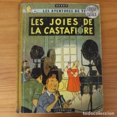 Cómics: TINTIN LES JOIES DE LA CASTAFIORE, HERGE. JUVENTUD REIMPRESSIO CATALA 1965 TAPA DURA 2ª. Lote 195063632