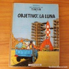 Cómics: TINTIN OBJETIVO LA LUNA, HERGE. JUVENTUD 1958 PRIMERA EDICION TAPA DURA 1ª. Lote 195063783