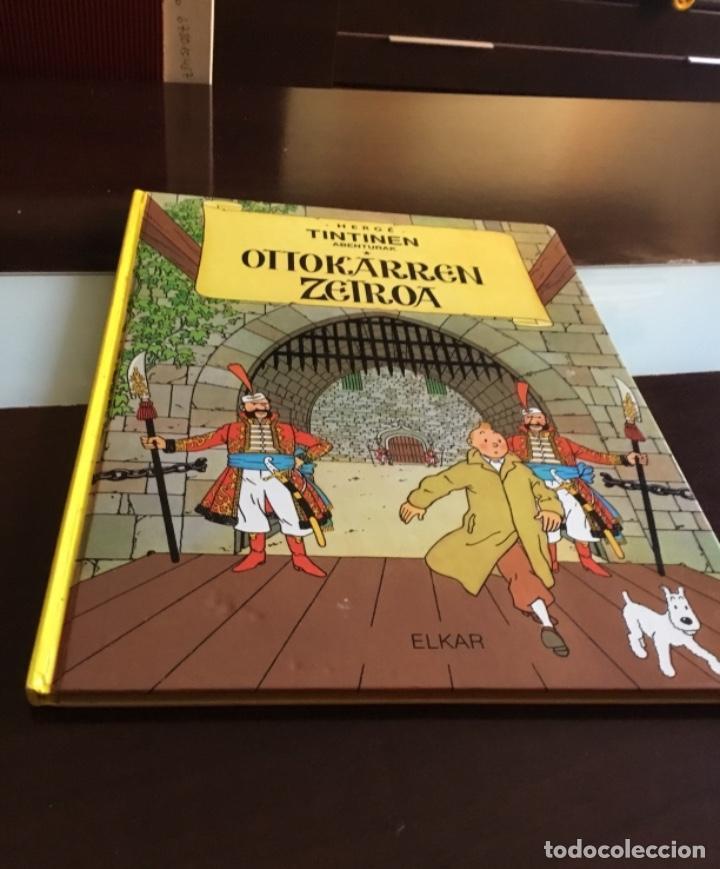 Cómics: Tintin ottokarren zetroa buenisimo estado en euzkera - Foto 2 - 195081940
