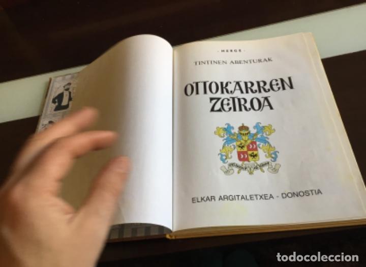 Cómics: Tintin ottokarren zetroa buenisimo estado en euzkera - Foto 9 - 195081940