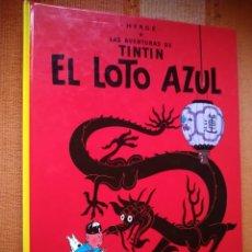 Comics : LAS AVENTURAS DE TINTIN - EL LOTO AZUL. HERGÉ. EDITORIAL JUVENTUD, 2007. 25ª EDICIÓN.. Lote 195120107