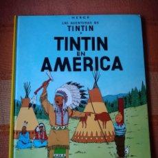 Cómics: LAS AVENTURAS DE TINTIN - TINTIN EN AMÉRICA. HERGÉ. EDITORIAL JUVENTUD, 2010. 23ª EDICIÓN.. Lote 195120563