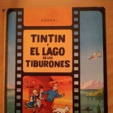 Cómics: LAS AVENTURAS DE TINTIN - TINTIN Y EL LAGO DE LOS TIBURONES. HERGÉ. ED. JUVENTUD, 1974. 1ª EDICIÓN.. Lote 195131976
