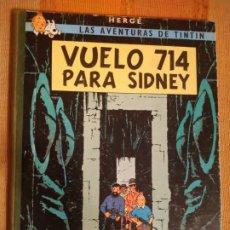 Cómics: LAS AVENTURAS DE TINTIN - VUELO 714 PARA SIDNEY. HERGÉ. ED. JUVENTUD, 1971. 2ª EDICIÓN.. Lote 195144281