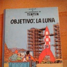Cómics: LAS AVENTURAS DE TINTIN - OBJETIVO: LA LUNA. HERGÉ. ED. JUVENTUD, 1969. 5ª EDICIÓN.. Lote 195145256