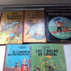 Cómics: 5 CÓMICS DE TINTÍN 1ª EDICIÓN HERGÉ. Lote 195179082