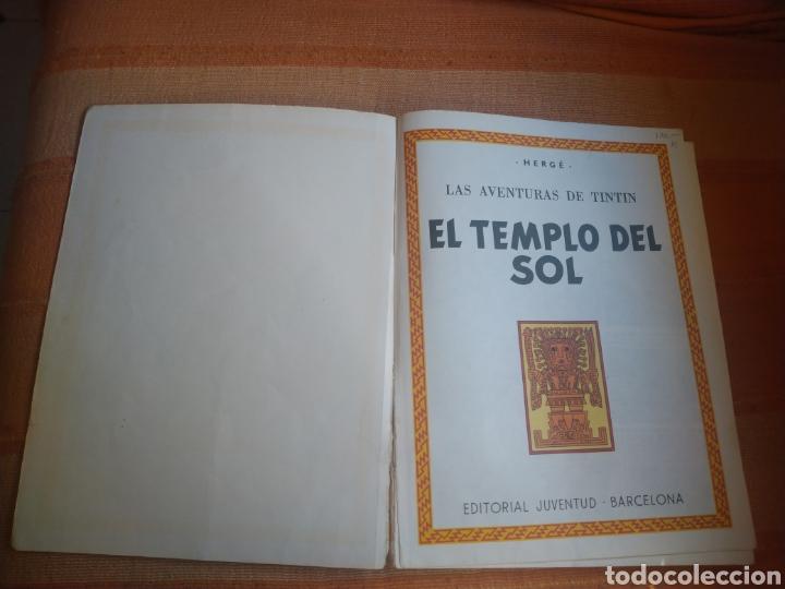 Cómics: LAS AVENTURAS DE TINTIN - EL TEMPLO DEL SOL. HERGÉ. ED. JUVENTUD, 1975. 3ª EDICIÓN. - Foto 2 - 195260638