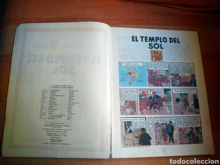 Cómics: LAS AVENTURAS DE TINTIN - EL TEMPLO DEL SOL. HERGÉ. ED. JUVENTUD, 1975. 3ª EDICIÓN. - Foto 3 - 195260638