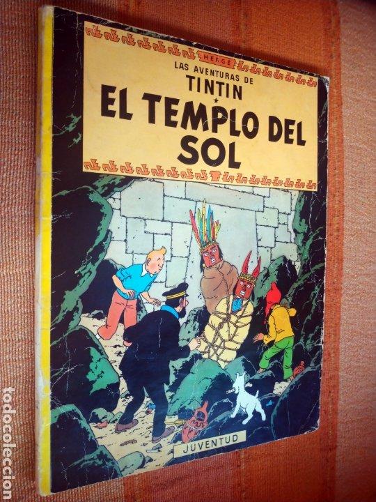 LAS AVENTURAS DE TINTIN - EL TEMPLO DEL SOL. HERGÉ. ED. JUVENTUD, 1975. 3ª EDICIÓN. (Tebeos y Comics - Juventud - Tintín)