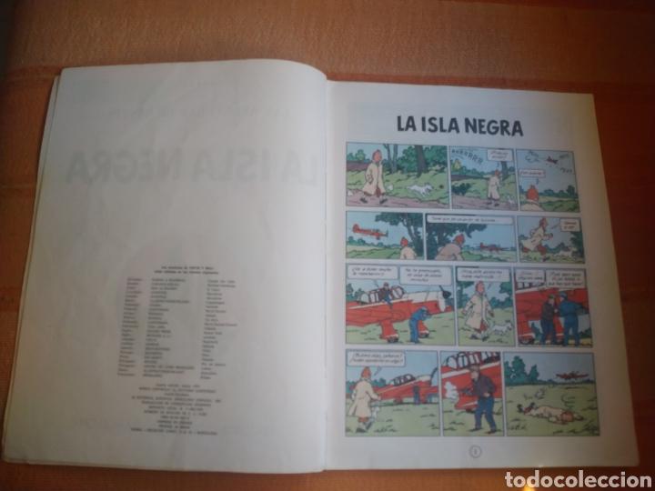 Cómics: LAS AVENTURAS DE TINTIN - LA ISLA NEGRA. HERGÉ. ED. JUVENTUD, 1974. 4ª EDICIÓN. - Foto 2 - 195260951