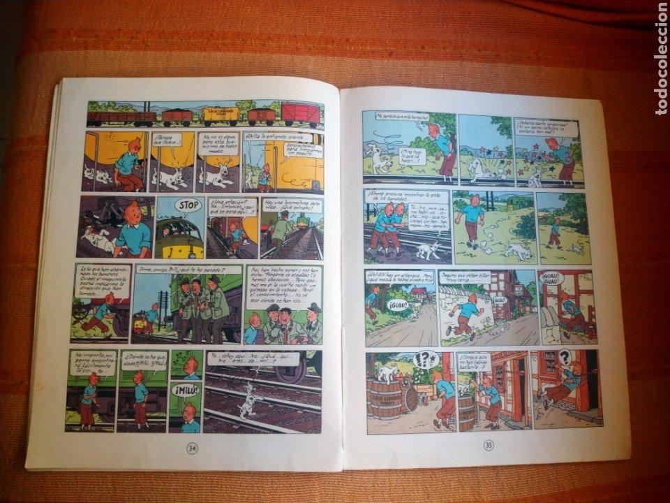 Cómics: LAS AVENTURAS DE TINTIN - LA ISLA NEGRA. HERGÉ. ED. JUVENTUD, 1974. 4ª EDICIÓN. - Foto 3 - 195260951