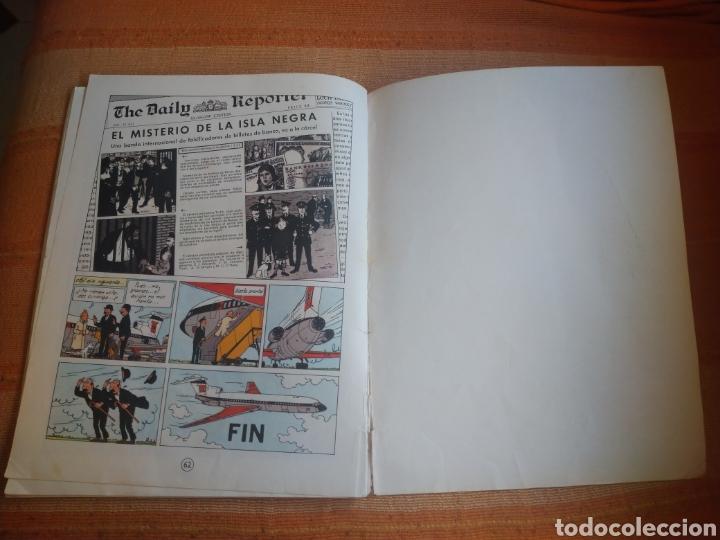 Cómics: LAS AVENTURAS DE TINTIN - LA ISLA NEGRA. HERGÉ. ED. JUVENTUD, 1974. 4ª EDICIÓN. - Foto 4 - 195260951