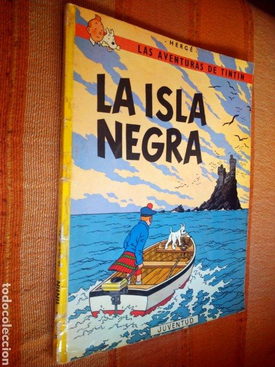 LAS AVENTURAS DE TINTIN - LA ISLA NEGRA. HERGÉ. ED. JUVENTUD, 1974. 4ª EDICIÓN. (Tebeos y Comics - Juventud - Tintín)