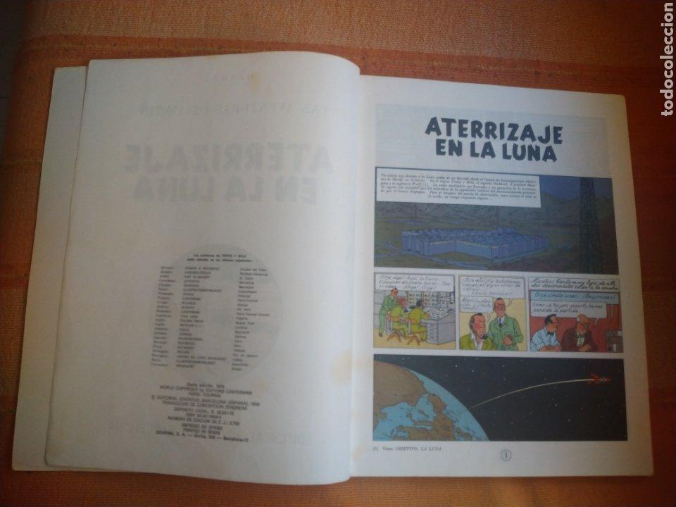 Cómics: LAS AVENTURAS DE TINTIN - ATERRIZAJE EN LA LUNA. HERGÉ. ED. JUVENTUD, 1976. 6ª EDICIÓN. - Foto 3 - 195261488