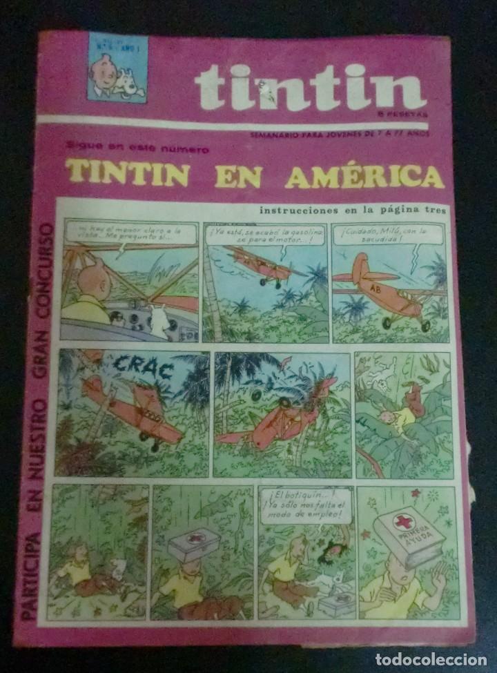 TINTÍN SEMANARIO PARA JÓVENES TINTÍN EN AMÉRICA Nº 5 AÑO 1 1967 (Tebeos y Comics - Juventud - Tintín)