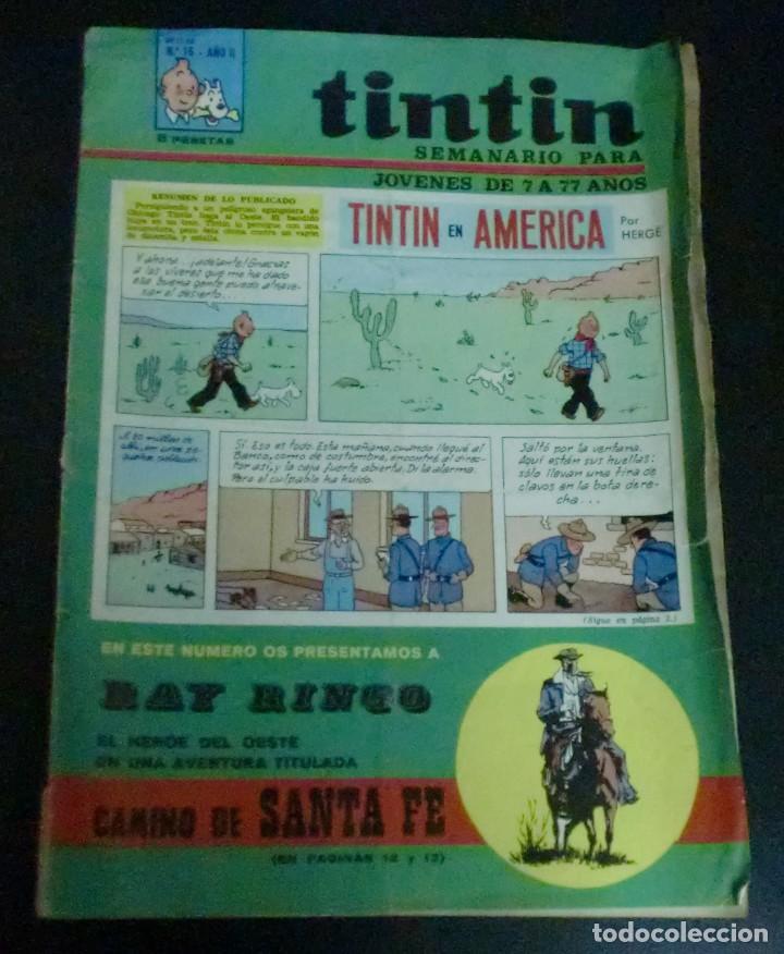 TINTÍN SEMANARIO PARA JÓVENES DE 7 A 77 AÑOS TINTÍN EN AMÉRICA Nº 16 AÑO II 1968 (Tebeos y Comics - Juventud - Tintín)