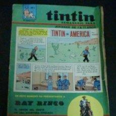 Cómics: TINTÍN SEMANARIO PARA JÓVENES DE 7 A 77 AÑOS TINTÍN EN AMÉRICA Nº 16 AÑO II 1968. Lote 195266906