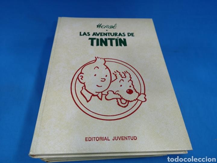 LOTE 5 TOMOS COMICS, LAS AVENTURAS DE TINTÍN, HERGÉ, EDITORIAL JUVENTUD. AÑOS 1989-90-91 (Tebeos y Comics - Juventud - Tintín)