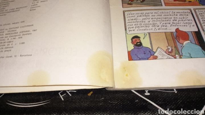 Cómics: Tintin en el Tíbet ver fotos estado necesita reparación y limpieza lomo muy tocado quinta edi 1976 - Foto 4 - 195339697