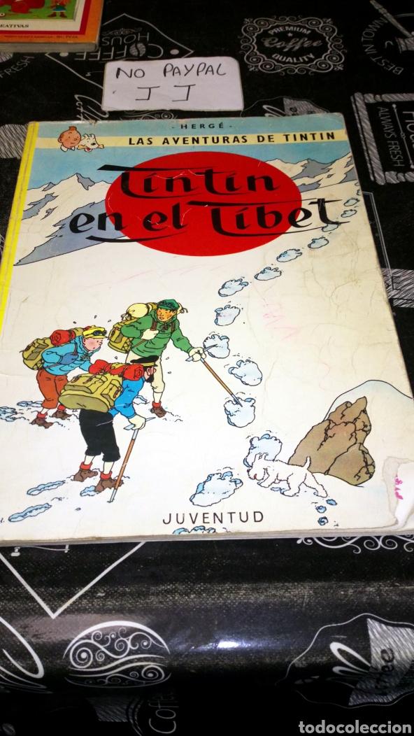 TINTIN EN EL TÍBET VER FOTOS ESTADO NECESITA REPARACIÓN Y LIMPIEZA LOMO MUY TOCADO QUINTA EDI 1976 (Tebeos y Comics - Juventud - Tintín)