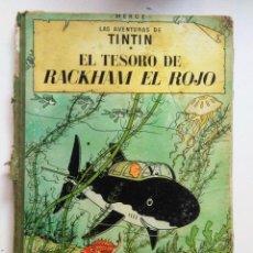 Cómics: TINTIN EL TESORO DE RACKHAM EL ROJO CUARTA EDICION JUVENTUD 1967. Lote 195488163