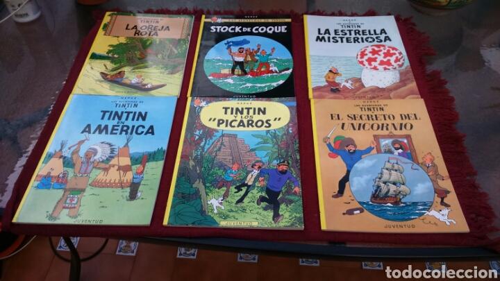 TINTIN PASTA BLANDA JUVENTUD (CASI COMPLETA A FALTA DE 4 NÚMEROS) (Tebeos y Comics - Juventud - Tintín)