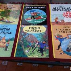 Cómics: TINTIN PASTA BLANDA JUVENTUD (CASI COMPLETA A FALTA DE 4 NÚMEROS). Lote 195985326