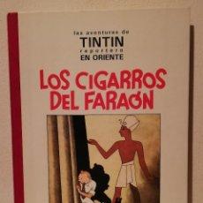 Comics : LIBRO LOMO DE TELA - HERGE TINTIN - LOS CIGARROS DEL FARAON - AÑO 1992 - BLANCO Y NEGRO - JUVENTUD. Lote 196320546