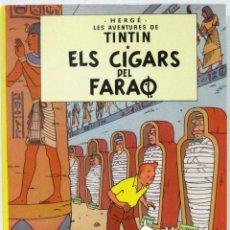 Comics: LES AVENTURES DE TINTIN - ELS CIGARS DEL FARAO - TAPA DURA - EN CATALAN - COMIC. Lote 196475287