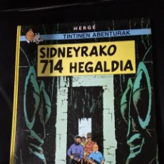 Cómics: TINTIN DIDNEYRAKO 714 HEGALDIA / ELKAR 1990 EUSKARAZ VASCO BASQUE TAPA DURA COMO NUEVO. Lote 196547831