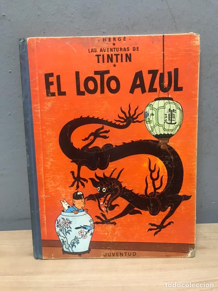 TINTÍN Y EL LOTO AZUL PRIMERA EDICIÓN AÑO 1965 EN BUEN ESTADO (Tebeos y Comics - Juventud - Tintín)