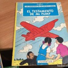 Comics : LAS AVENTURAS DE JO ZETTE Y JOCKO TESTAMENTO MR. PUMP HERGE 1974 JOVENTUT SEGUNDA ED. (COIB64). Lote 197138275