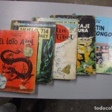 Comics : TINTIN 5 TITULOS PRIMERAS EDICIONES. Lote 197366125