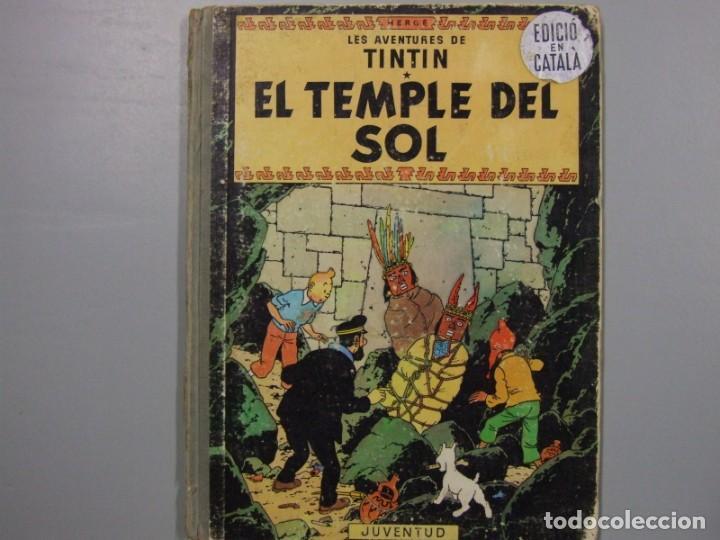 4 TITULOS DE TINTIN PRIMERAS EDICIONES EN CATALAN (Tebeos y Comics - Juventud - Tintín)