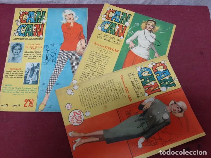 CAN CAN . REVISTA DE LAS BURBUJAS. NUMEROS 38..89..121. 1958 (Tebeos y Comics - Juventud - Otros)